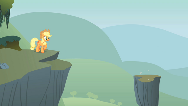 File:Applejack next to a cliff S1E15.png