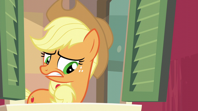 File:Applejack still very uncertain S6E10.png