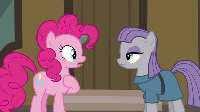 "File:Pinkie surprised by Maud saying ""five-ever"" S6E3.png"