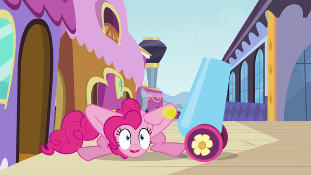 File:Pinkie with her party cannon S3E01.png