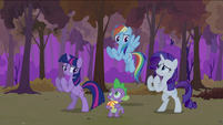 Twilight Rainbow Rarity in a fighting stance S2E21