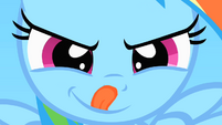 Filly Rainbow Dash licking lips S1E23