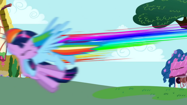 File:Rainbow Dash crashes into Twilight S1E01.png