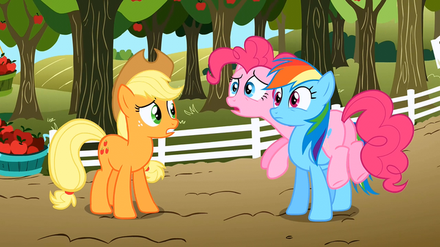 File:Applejack, Pinkie Pie and Rainbow Dash S02E15.png