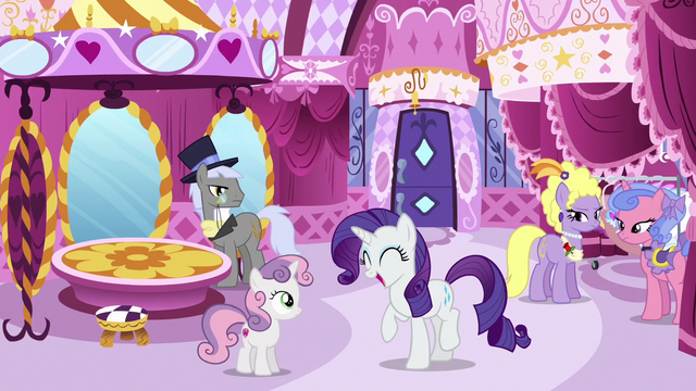 File:High-society ponies look at excited Rarity S6E14.png