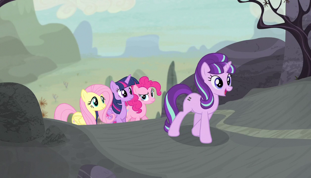 File:Starlight leads Mane Six to the cutie mark vault S5E1.png