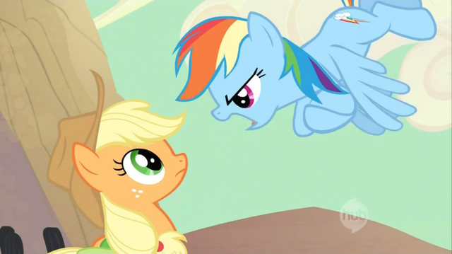 File:Applejack Rainbow Dash confrontation S02E14.png