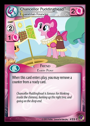 File:Chancellor Puddinghead, Equestrian Founder card MLP CCG.jpg