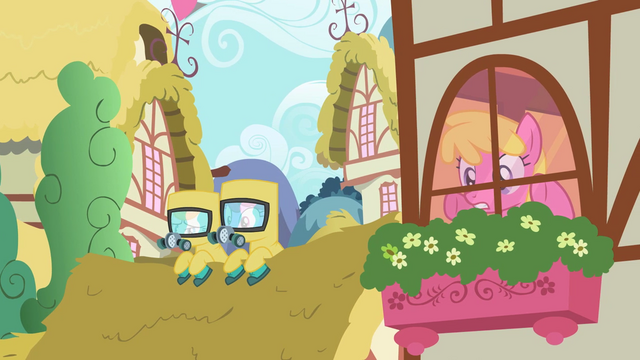 File:Ponies in radiation suits S2E6.png