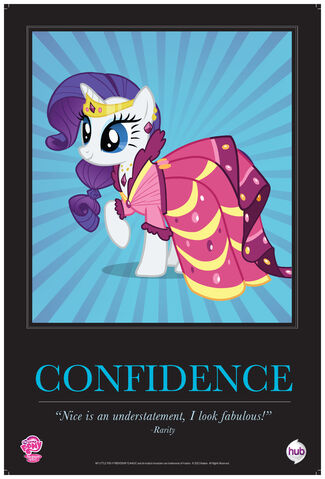 "File:Rarity ""Confidence"" poster from ComicCon 2012.jpg"