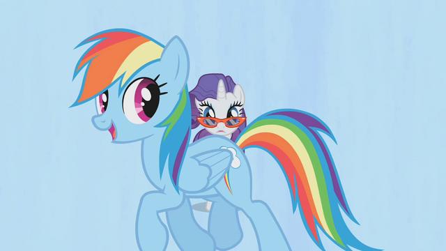 File:Rainbow Dash walking through S1E14.png