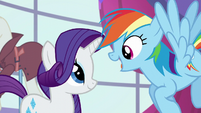 Rainbow asks if Rarity is coming S5E15