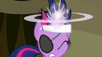 Twilight preparing to cast the time travel spell S02E20
