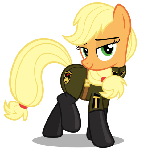 File:FANMADE Applejack in uniform.png