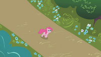 Pinkie Pie follows Rainbow Dash S1E05