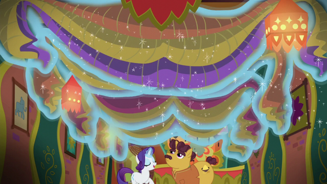 File:Rarity removes decorations from Tasty Treat ceiling S6E12.png