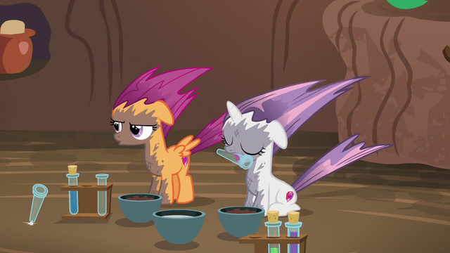 File:Scootaloo blows test tube out of her mouth S6E4.png