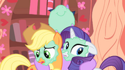Applejack and Rarity aren't that excited S1E08