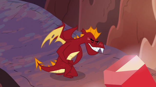 File:Garble bowing to Dragon Lord Spike S6E5.png