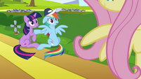 Rainbow Dash & Twilight see Fluttershy S2E22