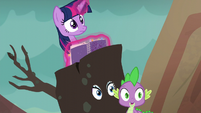 Twilight, Rarity, and Spike hear Ember S6E5