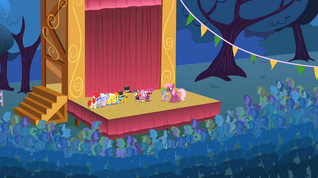 File:Cheerilee and all the participants onstage S1E18.png