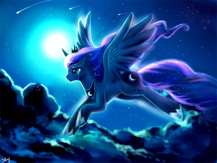 Image - Princess Luna Wallpaper By Artist-kankitsuru.jpeg ...