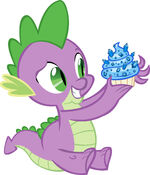Spike with a sapphire cupcake