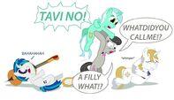 A pony riot against Prince Blueblood