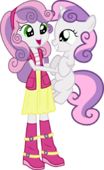 Sweetie belle and sweetie belle by hampshireukbrony