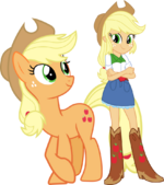 Applejack and applejack by hampshireukbrony-d6mtmym