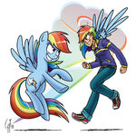 Rainbow Dash by GlancoJusticar