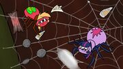 Spider Big Macintosh and Twilight Sparkle in their web