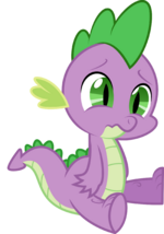 Spike crying by hourglasspony