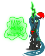 Queen Chrysalis Christmas pony by artist-zimvader42