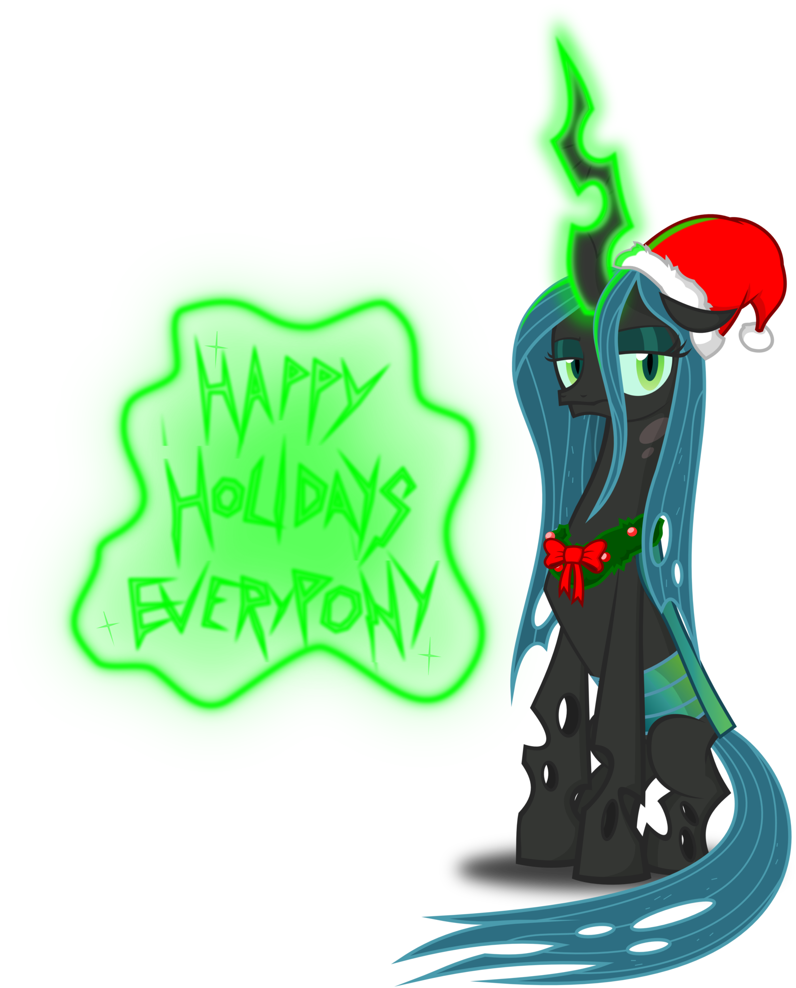 My little pony xmas coloring pages - Image Queen Chrysalis Christmas Pony By Artist Zimvader42 Png My Little Pony Fan Labor Wiki Fandom Powered By Wikia