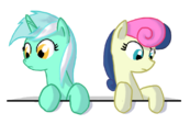 Lyra and Bon Bon in a box