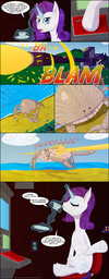 Rarity vs a giant crab by deusexequus-d68a6rz