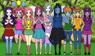 The Mane 6 and the Princesses