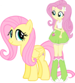 Fluttershy and fluttershy by hampshireukbrony
