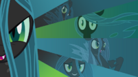 Queen Chrysalis wallpaper fan art by artist-alexiy777, artist-30aught6, artist-clone999, artist-makintosh91 and artist-bluedragonhans