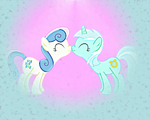 Lyra and Bon Bon shipping by artist-enverse