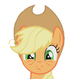 Applejack tired, no background