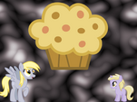 Derpy Hooves and Dinky Do wallpaper by artist-flukefoot