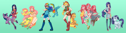 Mlp the mane 6 by sapphire1010-d47w6qi