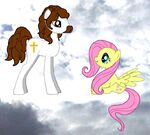 Little Pony Fluttershy talks to Jesus Christ