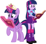 Twilight sparkle and twilight sparkle by hampshireukbrony-d6mkmmg