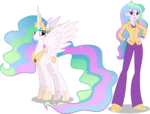 Princess celestia and principal celestia by hampshireukbrony-d6q6x86