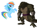 Leatherhead&RainbowDash