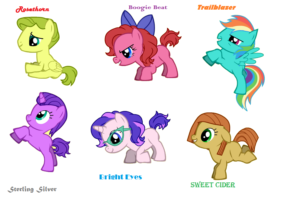 Image mane 6 foals by my little pony for Mlp coloring pages mane 6